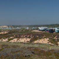 Vista da Praia do Malhão com caravanas