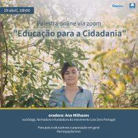"""Palestra online """"Educação para a Cidadania""""-01"""
